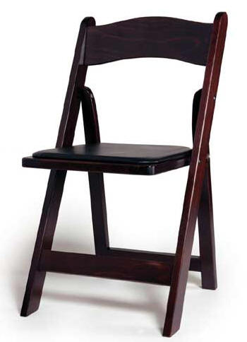 mahogany wood chair