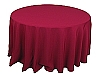 120 in. Round Polyester Tablecloth BURGUNDY